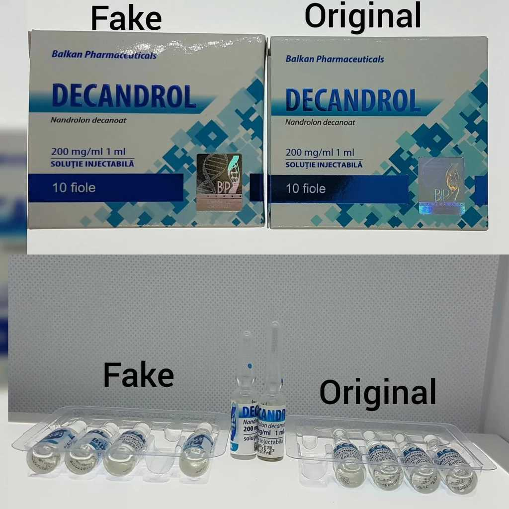 Decandrol - fake vs original
