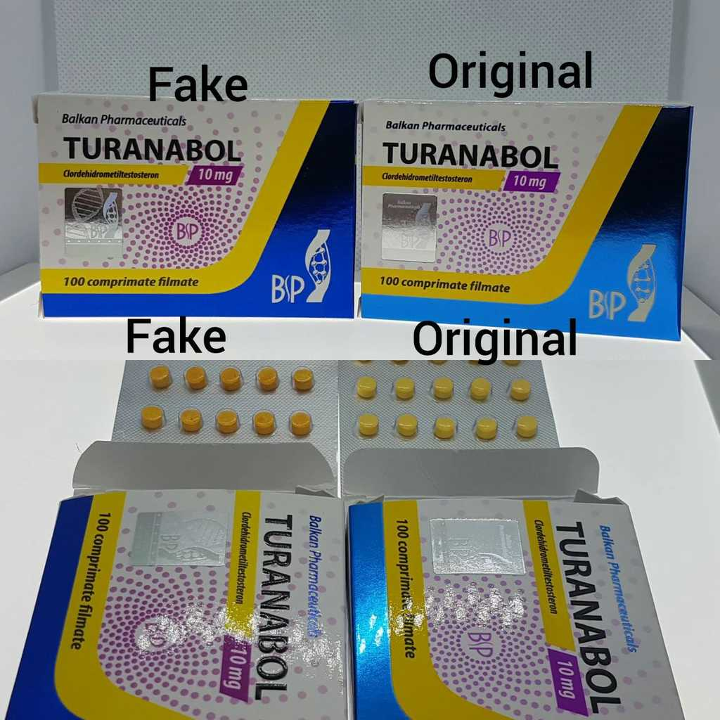 Turanabol Balkan Fake vs Original